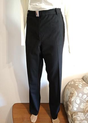 Дизайнерские прямые брюки зима 57% шерсть, высокая посадка.