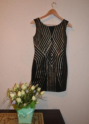 Платье с золотым орнаментом от kiah