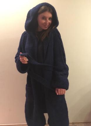 Фаворит сезона - вязаное пальто