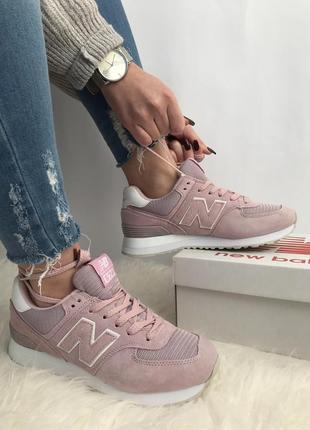 New balance 574 розовые новые кроссовки распродажа 40, 41 размеры