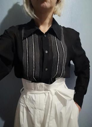 Брендовая шёлковая блуза 100 %шёлк laura ashley