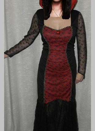 Вампирша george платье карнавальное новогоднее ведьма валькирия