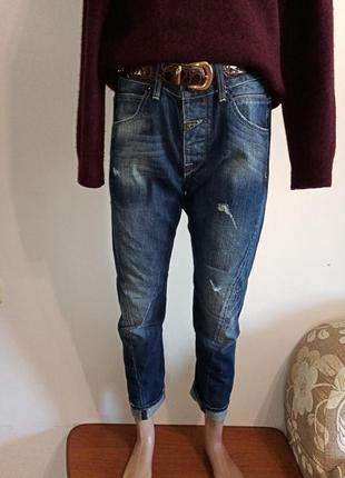 Укороченные джинсы бойфренд