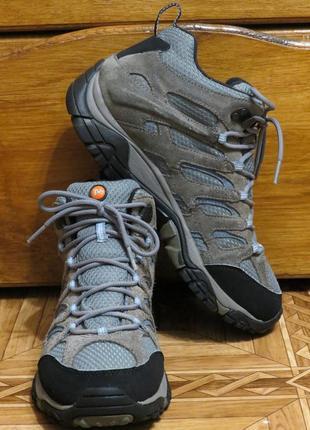Ботинки зимние треккинговые merrell moab gore-tex {оригинал}р.40