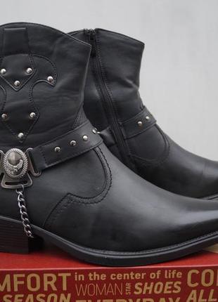 Новые кожаные зимние ботинки centr shoes