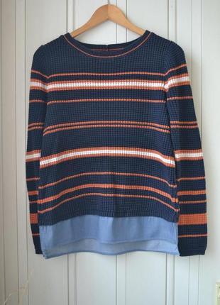 Next свитер в полоску синий свитер зимний свитер теплая кофта