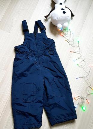 Комбинезон штаны полукомбинезон сток фирменный лыжный 24мес 2т