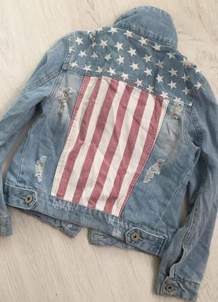 Джинсовая куртка y.d.