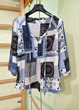 Блуза в этностиле с завязками