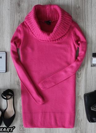 Розовый свитер-платье hm
