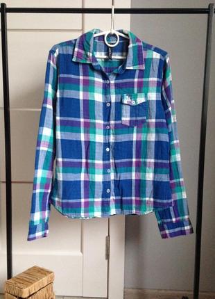 Теплая рубашка в клетку c-м casualclub