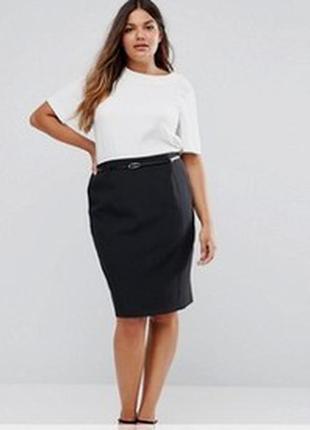 Черная юбка карандаш в подарок свитерок