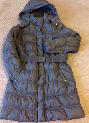 Полупальто/ удлинённая куртка с капюшоном , сезон: весна- осень, бренд mango