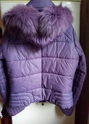 Куртка на синтепоне с натуральным мехом tiffi  р. с