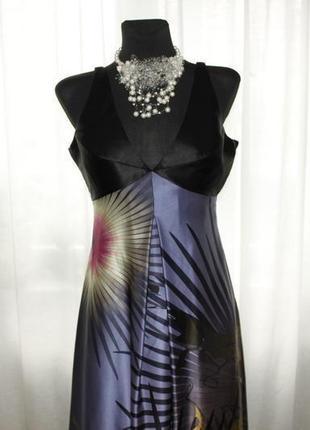 Роскошное брендовое платье sonja kiefer оригинал германия / новый год выпускной /100% шелк