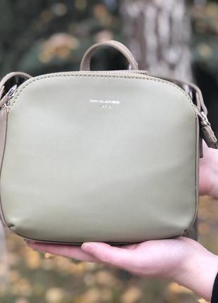 Женская сумочка цвета хаки david jones