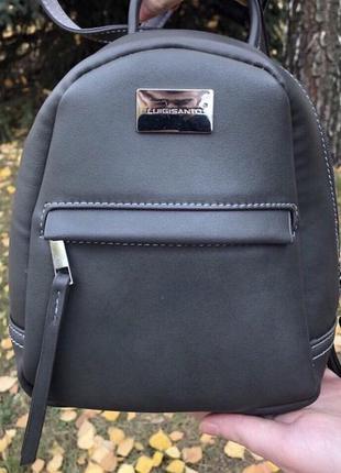 Женский серый мини рюкзак luigisanto2
