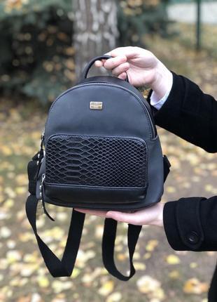 Женский черный мини рюкзак david jones