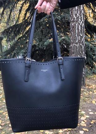 Женская большая черная сумка david jones
