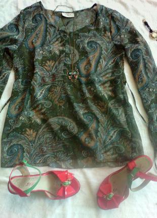 Шифоновая блуза туника lady m