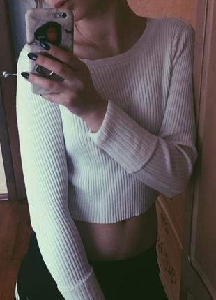 Кофточка свитер кроп топ