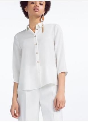 Белая блузка блуза zara