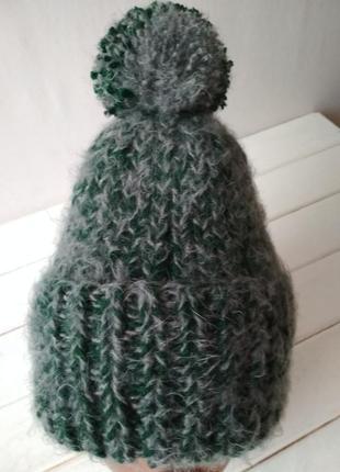 Вязаная зимняя шапочка