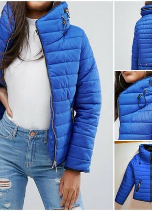 Новая брендовая теплая синяя куртка rising пуховик