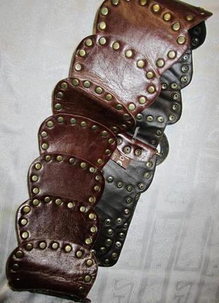 Кожаный итальянский ремень.