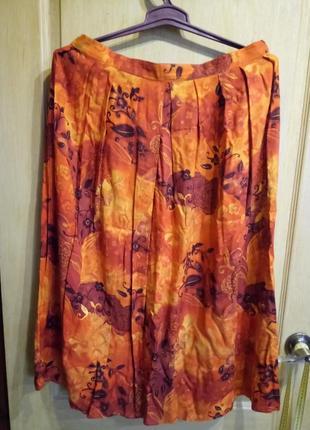 Шикарная летняя юбка 100 % вискоза индия berkertex