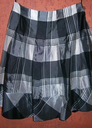 Длинная классная юбка шелк на подкладке