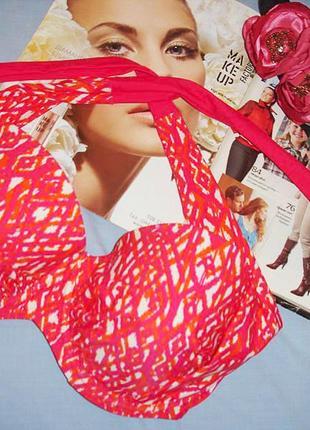 Верх от купальника раздельного топ лиф бюст чашка 75е 75 е красный розовый оранжевый