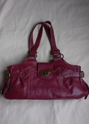 Кожаная сумка на плече  tommy & kate