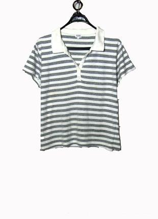 Женская футболка из хб в полоску