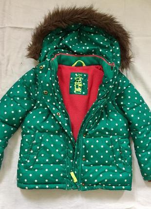 Крутая зимняя куртка mini boden chicco next 4-5 лет