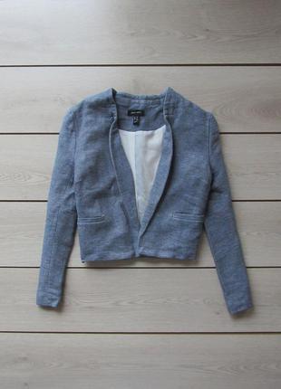 Рельефный короткий пиджак блейзер меланж кроп топ от new look