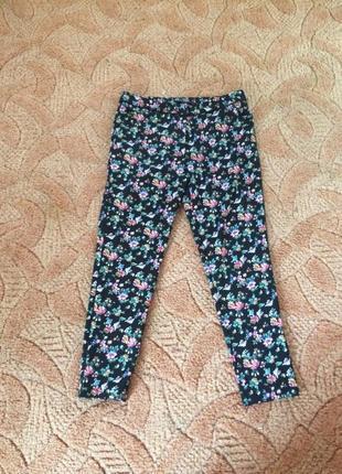 Красивые штаны л цветочный принт