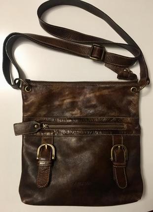 Трендовая сумка из натуральной кожи италия