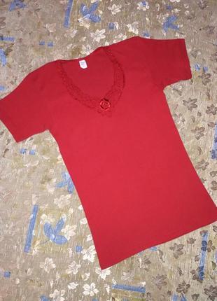 Нательная футболка в рубчик р-р l-xl бренд mona lisa германия