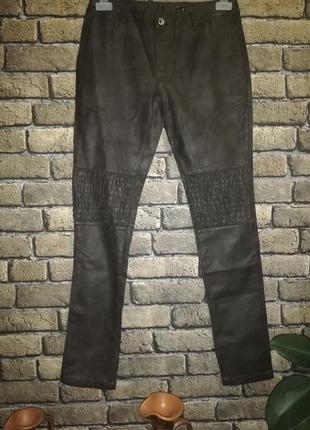 Фирменные брюки из pu-кожи от zuiki