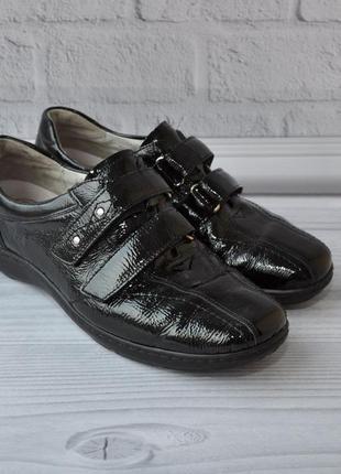 Туфли waldlaufer 38р 25см лакированная кожа