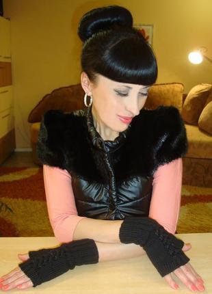 Митенки перчатки без пальцев - tender silk