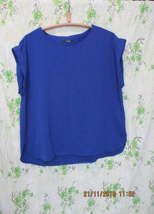 Яркий топ блуза из фактурной ткани большой размер uk 20/наш 52-54