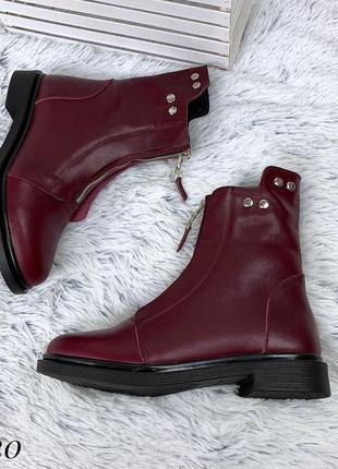 Ботиночки зимние из натуральной кожи. размеры с 36 по 40