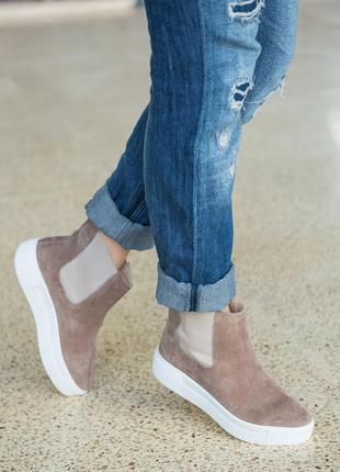 Кожаные женские ботинки демисезонные и зимние 36-40рр.