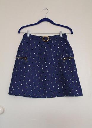 Синяя юбка с карманами promod, франция