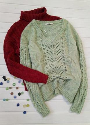 Светло зеленый свитер george