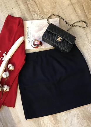 Шерстяная мини юбка esprit на подкладке 10р зимняя теплая юбка базовая