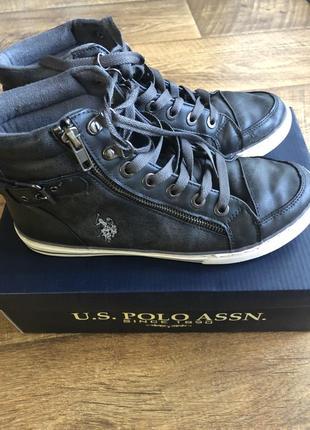 Стильные высокие кеды кроссовки ботинки на подростка u.s. polo assn be4f9a02856