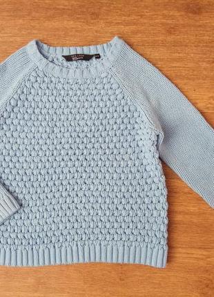 Свитер джемпер голубой свитерок